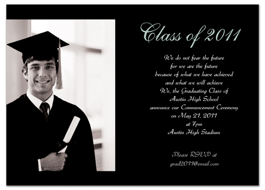 Download Sample Graduation Invitation Announcement Black Word – Graduation Invitation Templates Microsoft Word