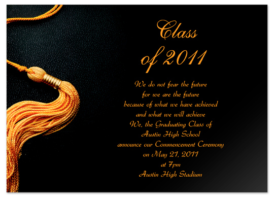 Download Online Graduation Invitation Announcement Gold ...
