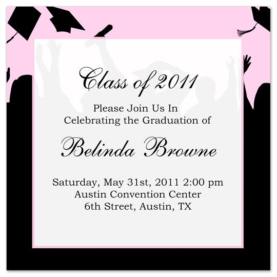 Download Free Graduation Invitation Announcement Black ...