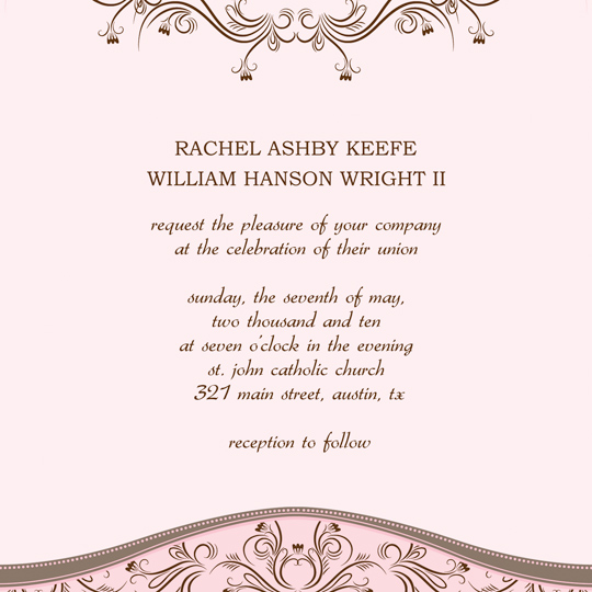 Download Printable Wedding Invitation Announcement Word Template – Word Invitation Template