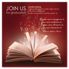 Quotes Wording Graduation Announcement Design