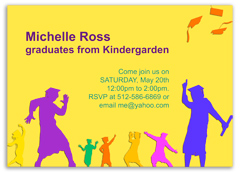 Fun Boy Girl Graduation Invitation Design