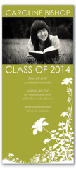 Green White Photo Graduation Invitation Design