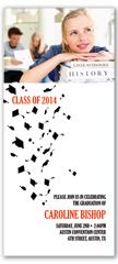 Cap Toss Design Graduation Invitation Example