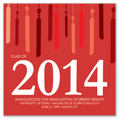 Red Recognition Cord Graduation Invitation Example