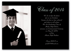 Unique Photo Graduation Invitation Example