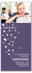 2017 Photo Cap Gown Flying Graduation Invite