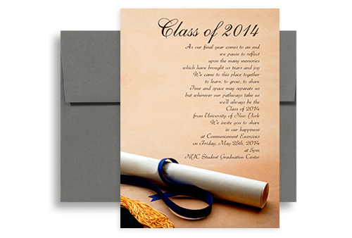 2014 Invite Sample Printable Graduation Announcement 5x7 in. Vertical