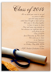 Invite Sample Printable Graduation Announcement