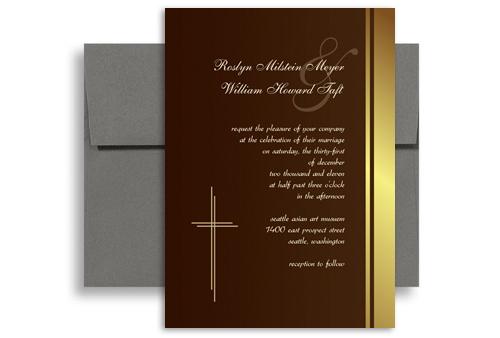 Sample Wedding Invitation Announcement X In Vertical WI - Catholic wedding invitation templates