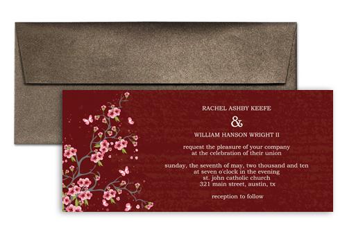 Unique Wedding Invitation Announcement 9x4 In Horizontal