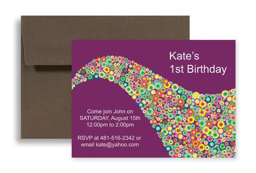 creative saxophone background birthday party invitations 7x5 in  horizontal