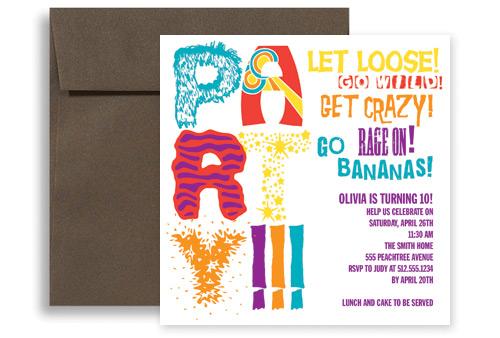 Fun Children Personalized Birthday Invitation 5x5 In