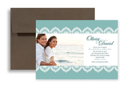 Custom Wedding Invitation Templates: Custom Photos Templates Wedding Invitation Design 7x5 In